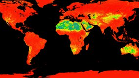 Global view of ASTER Global Emissivity Dataset Band 10 data.