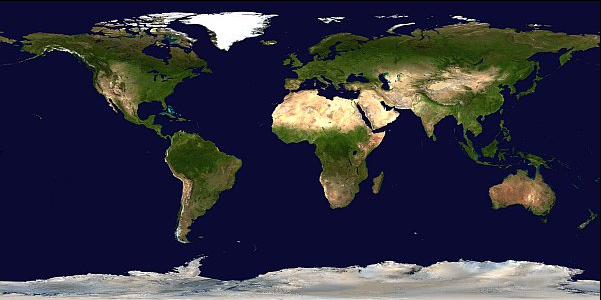 Image of the MODIS Climate Modeling Grid.