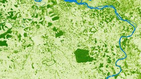 Tree Cover data over part of Brazil.
