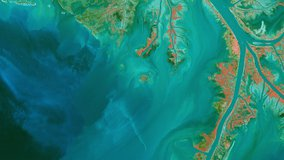 Terra ASTER imagery of the Mississippi River Delta.