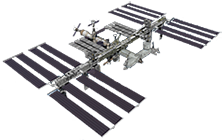 An image of the International Space Station, the platform ECOSTRESS is located on.