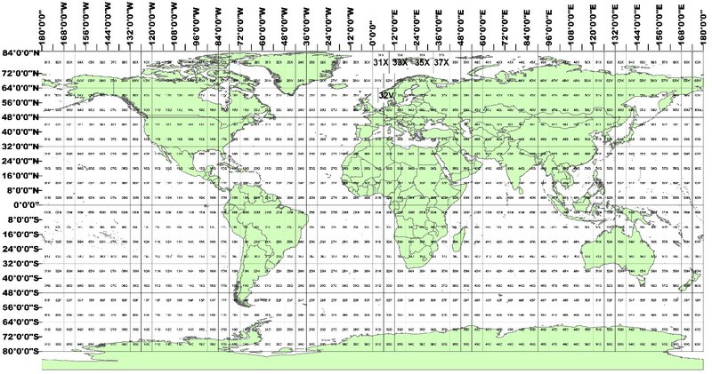 Image displaying the military grid reference tiling system used by the HLS products.