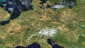 Terra MODIS Surface Reflectance data over Europe.